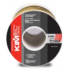 KIM TEC SD-84/4 Cамоклеящийся уплотнитель, 15мм x 8мм, черный
