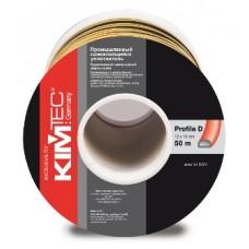 KIM TEC Самоклеящийся уплотнитель, D-профиль, 12мм x 10мм, черный/белый