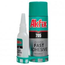 Akfix  705 Экспресс клей с активатором универсальный 400мл+125г