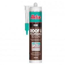 Akfix  910N Нейтральный силиконовый герметик для крыш и водостоков