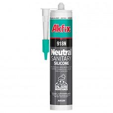 Akfix  918N Санитарный силикон низкомодульный, 310 мл